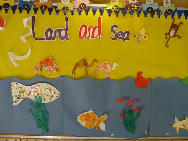 Christ Church Pre-School Land & Sea display